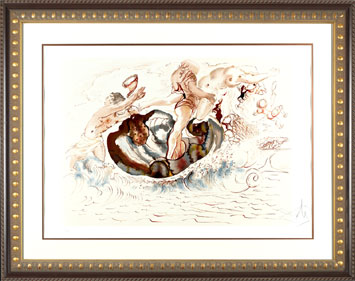 Sirens & the Sailor - Salvador Dali Lithograph