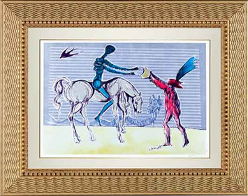 Salvador Dali Lithograph -  The Gift of Mandrino