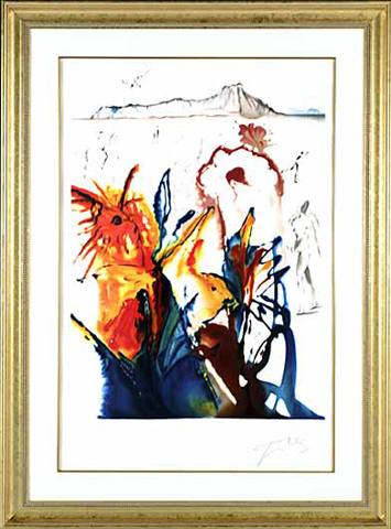 The Mystery of Diamond Head - Salvador Dali Lithograph