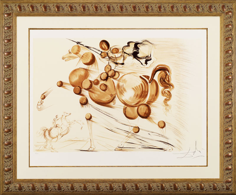 Salvador Dali Signed Lithograph - Spectral Horse