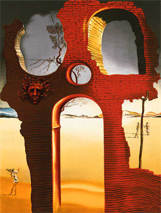 Salvador Dali Print - Invisible Face
